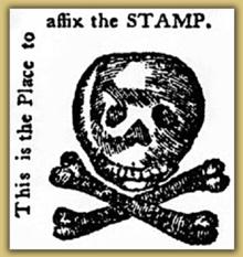 stamp act skull